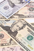 Dolarové bankovky. — Stock fotografie