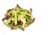 Fresh asparagus salad. — Stock Photo