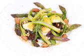 Salad with asparagus. — Stock Photo