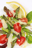 Close up of asparagus salad. — Stock Photo