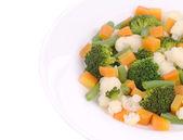 Cauliflower salad with broccoli and carrot. — Stock Photo