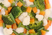 Cauliflower salad with broccoli and carrot. — Stock Photo