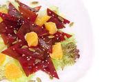 Beet salad with orange and sesame. — Stock Photo