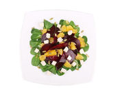 Beet salad with feta cheese and orange. — Stock Photo