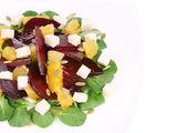 Beet salad with feta cheese and orange. — Stock Photo