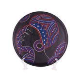 Ceramic plate varnished. — Stock fotografie