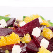 Beet salad with feta cheese and orange. — Stock Photo #46696163