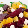 Beet salad with feta cheese and orange. — Stock Photo #46697261