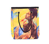 African style print on the bag. — Stock Photo