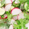 Radish salad — Stock Photo