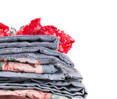 Stack of blankets. — Stock Photo