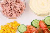 Salad with tuna and mayonnaise. — Stock Photo