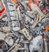 Hot burning charcoal — Stock Photo
