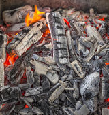 Hot burning charcoal. — Stock Photo