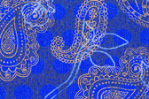 Paisley pattern on cloth. — Stock Photo