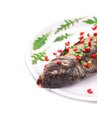 Grilled carp with peppercorn. — Stock Photo