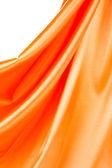 Orange silk background — Stock Photo