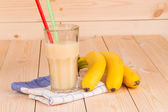 Banana milk shake — Stockfoto