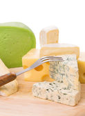 Various types of cheeses — Stock Photo