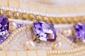 紫晶宝石. — 图库照片