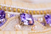 Amethyst gem. — Stock Photo