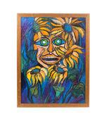 Acuarela retrato abstracto. — Foto de Stock