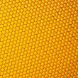 Honeycomb grid against yellow background — Stock Photo #49072517