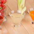 Fresh vegetable juices on table — Stock Photo #49073051