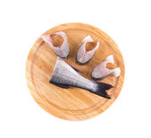 Steaks and tail of seabass — Stock Photo