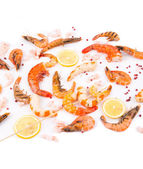 Cooked shrimps. — Stock Photo