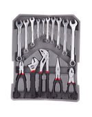 Tools in toolbox. — Stock Photo