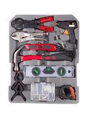 Ferramentas na caixa de ferramentas. — Foto Stock