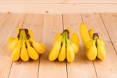 Bananas on wooden background. — Stock Photo