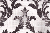 Black and white pattern embroidery — Stock Photo