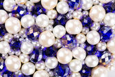 Colored glossy beads — Stock Photo