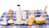 Dairy produce in assortment. — Stock Photo