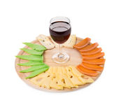 Red wine and cheese composition.  — Stock Photo