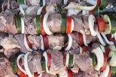 Raw shish kebab — Stock Photo