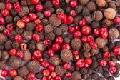 Red and black peppercorn — Stock Photo