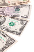 Sequence of dollar banknotes. — Stock Photo