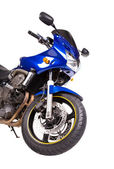 Blue powerful motorcycle. — Stockfoto