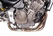 Fragment of powerful motorcycle. — Stockfoto
