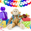 Monkey's birthday — Stock Photo