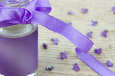 Close up of lavender oil — Stock Photo