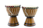 Two African drums — Stock Photo