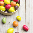 Colorful chocolate peanuts — Stock Photo