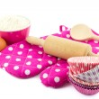 Pink baking utensils — Stock Photo #43694767