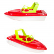 Beach Toy Speedboat isolated on a white background — Stock Photo