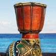 Maracas and ethnic drum — Stock Photo
