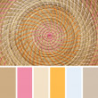 Stock Photo: Wicker Placemat, colour palette swatches.
